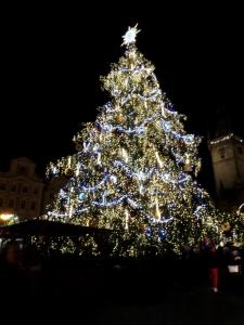 christmas tree prague old town